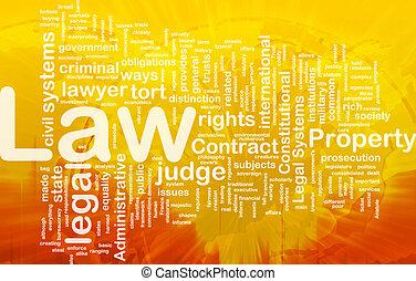 concepto, plano de fondo, ley