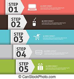 concepto, plano de fondo, uno, cuatro, escoger, su, 5, 4, plantilla, 2, presentación, empresa / negocio, editable, dos, palabras, five., icono, numerado, eps10., diapositiva, tres, 3, 1