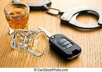 Concepto por conducir bebida