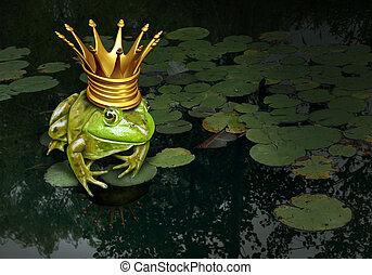 concepto, príncipe, rana