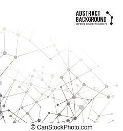 concepto, red, resumen, -, ilustración, 002, vector, conectar, plano de fondo