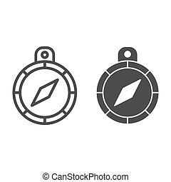 concepto, símbolo, empresa / negocio, flecha, fondo., pictogram, mano, móvil, compás, señal, blanco, icon., vector, mercadotecnia, tela, graphics., estilo, dirección, línea, sólido, design., contorno, estrategia