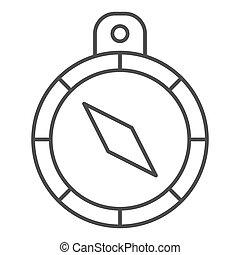concepto, símbolo, empresa / negocio, flecha, fondo., pictogram, mano, móvil, compás, señal, blanco, delgado, icon., vector, mercadotecnia, tela, graphics., estilo, dirección, línea, design., contorno, estrategia