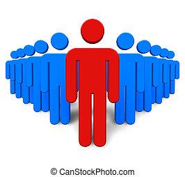 concepto, success/leadership