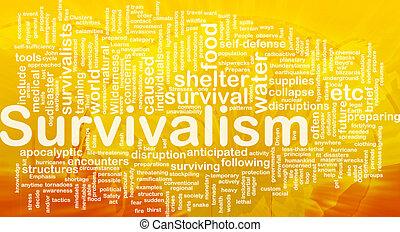 concepto, survivalism, plano de fondo