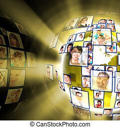 Concepto tecnológico de los medios