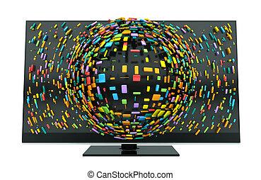 Concepto televisivo 3D aislado