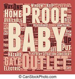 concepto, texto, cómo, wordcloud, plano de fondo, bebé, hogar, su, prueba