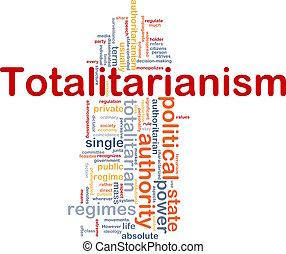 Concepto totalitario de fondo