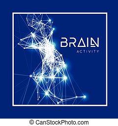 Concepto un cerebro humano activo