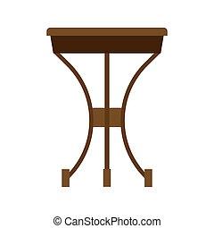 concepto, vector, icono, marrón, tabla, café, bebida, escritorio, primer plano, interior, oscuridad, de madera, café, fondo.