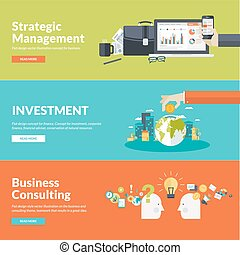 Conceptos planos de diseño para los negocios