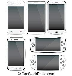 concepts., smartphone, conjunto