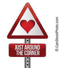 conceptual, amor, muestra del camino