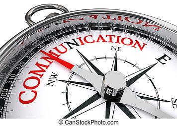 conceptual, comunicación, palabra, rojo, compás
