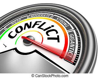 conceptual, conflicto, metro