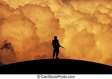conceptual, guerra, ilustración