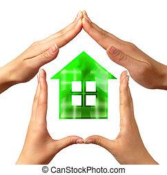 conceptual, hogar, símbolo