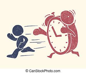 conceptual, ilustración, tiempo