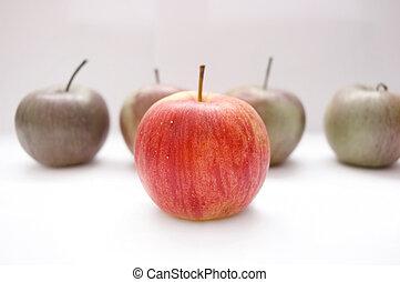 conceptual, manzanas, image.