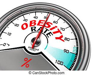 conceptual, obesidad, tasa, metro