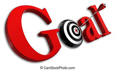 conceptual, palabra, meta, rojo, blanco