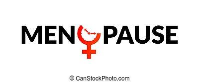 Conciencia de icono de la menopausia. Mujer de la edad de fertilidad, reloj menstrual