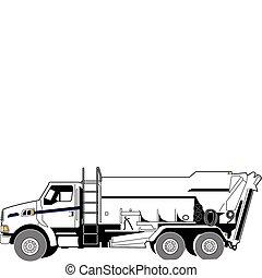 concreto, camión