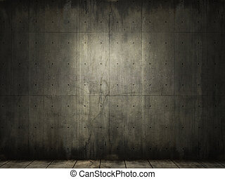 concreto, grunge, habitación, plano de fondo