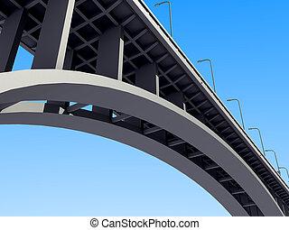 Concreto puente de arco