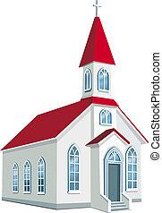 condado, poco, cristiano, iglesia