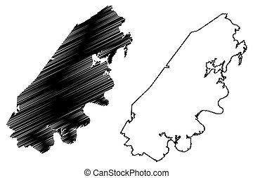 condado, u..s.., estados, rhea, garabato, tennessee, us), unido, (u.s., bosquejo, vector, ilustración, mapa, estado, américa, estados unidos de américa