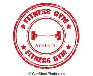 condición física, gym-stamp