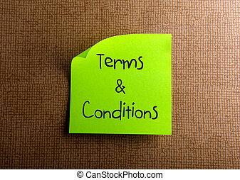 Condiciones y condiciones