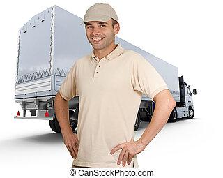 conductor, camión