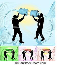 Conecta la ilustración del concepto de negocios