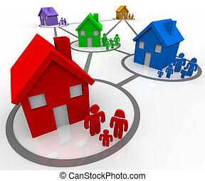 conectado, familias, vecindades