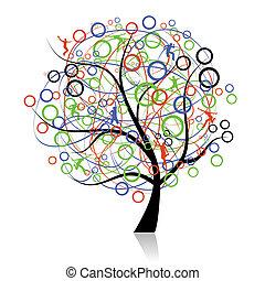 Conectando gente, árbol genealógico