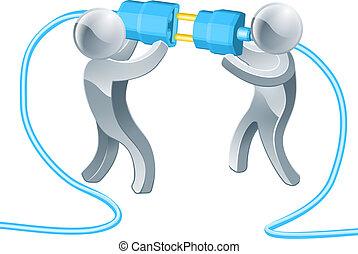 Conectando gente de negocios