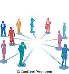 Conectar a la gente de la red de contactos copiar el espacio