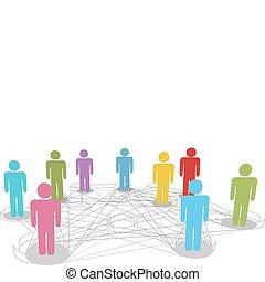 Conectar a la gente las conexiones sociales de las redes sociales