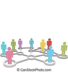 Conectar a la gente negocios o red social