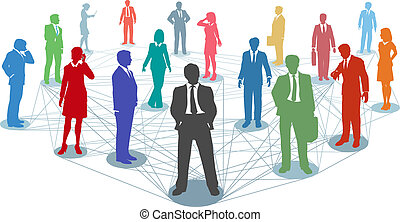 Conectar las conexiones de los empresarios
