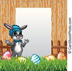 Conejillos de Pascua con antecedentes de signos en blanco