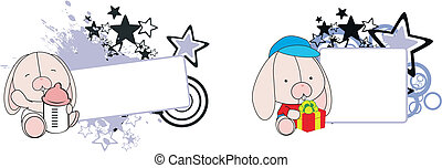 Conejita de dibujos animados