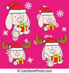 Conejita de Navidad