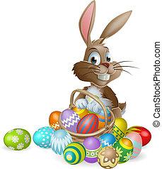 Conejo de Pascua con huevo de Pascua