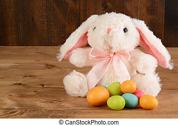 Conejo de Pascua con huevos
