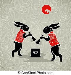 conejos, luna