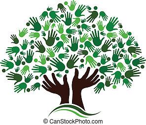 Conexión de amistad, imagen de árbol.